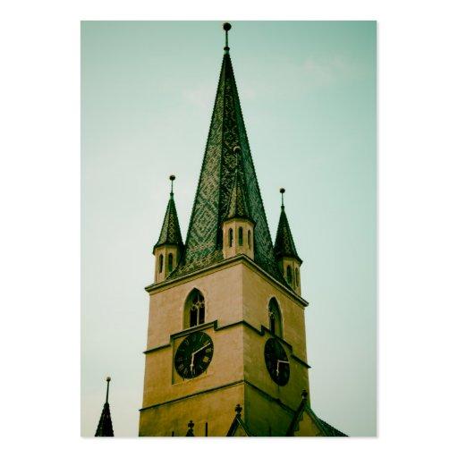 Torre de igreja evangélica, Sibiu Modelo Cartões De Visita