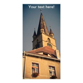 Torre de igreja evangélica, Sibiu Cartoes Com Fotos