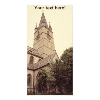 Torre de igreja evangélica, Sibiu Cartão Com Fotos