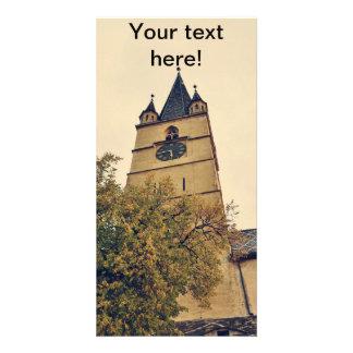 Torre de igreja evangélica, Sibiu Cartões Com Foto Personalizados