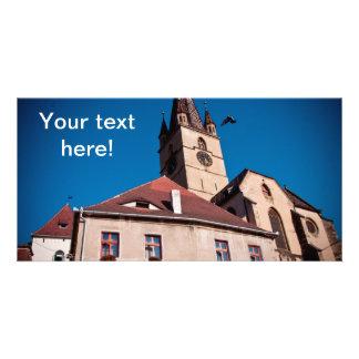 Torre de igreja evangélica Sibiu Cartões Com Foto