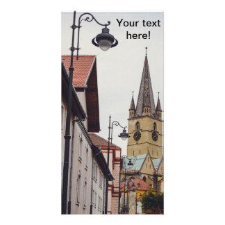 Torre de igreja evangélica, Sibiu Cartões Com Fotos