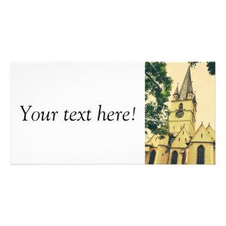 Torre de igreja evangélica, Sibiu Cartões Com Foto