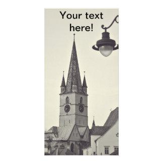 Torre de igreja evangélica Sibiu Cartões Com Fotos Personalizados
