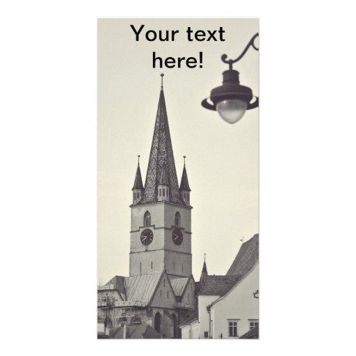 Torre de igreja evangélica, Sibiu Cartões Com Fotos Personalizados