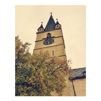Torre de igreja evangélica Sibiu Panfleto Coloridos