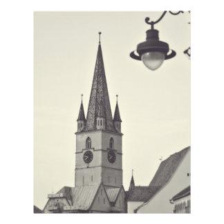Torre de igreja evangélica, Sibiu Panfletos