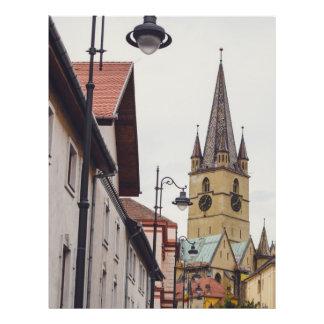 Torre de igreja evangélica Sibiu Panfletos