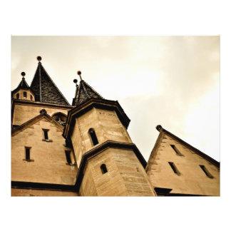 Torre de igreja evangélica Sibiu Panfleto