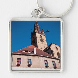Torre de igreja evangélica, Sibiu Chaveiro