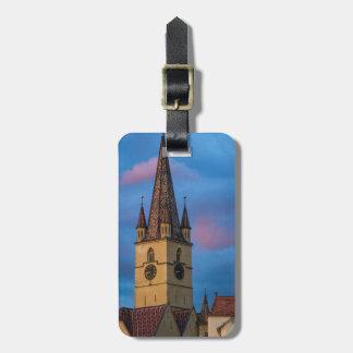 Torre de igreja evangélica, Sibiu Tags Para Bagagens