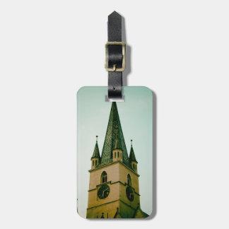Torre de igreja evangélica Sibiu Etiquetas Para Malas De Viagem