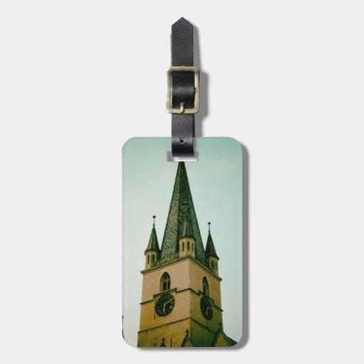 Torre de igreja evangélica, Sibiu Etiquetas Para Malas De Viagem