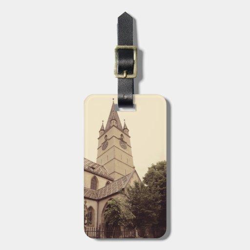 Torre de igreja evangélica, Sibiu Etiquetas De Bagagens