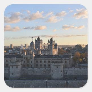 Torre de Londres Adesivo Quadrado