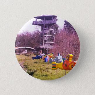 torre de madeira do parque da juventude e peixes bóton redondo 5.08cm