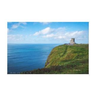 Torre de Moher, os penhascos de Moher, Ireland. Impressão Em Canvas