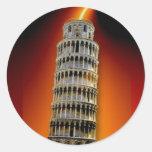 Torre de Pisa Adesivos Em Formato Redondos