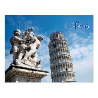 Torre de Pisa Cartão Postal