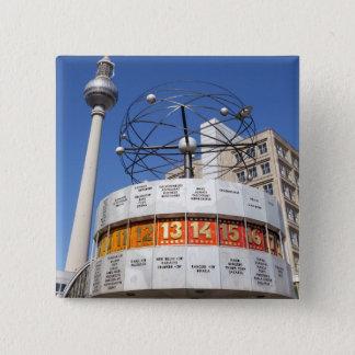 Torre do pulso de disparo e da televisão do mundo, bóton quadrado 5.08cm