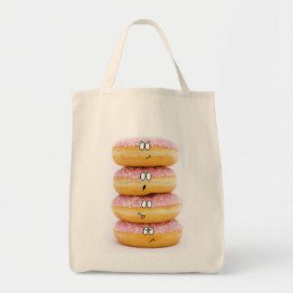 torre do saco cor-de-rosa dos caráteres da filhós bolsa tote