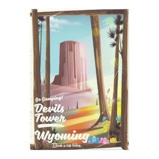 Torre dos diabos, cópia de acampamento do vintage impressão em canvas
