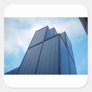 torre dos willis adesivo quadrado