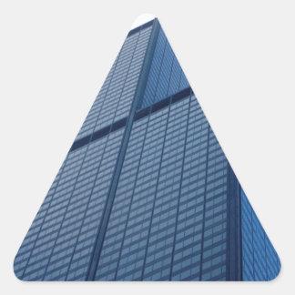 torre dos willis adesivo triangular