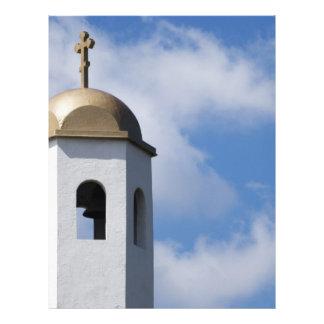 Torre e cruz de igreja papéis de carta personalizados