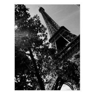 Torre Eiffel 2 de B&W Cartão Postal