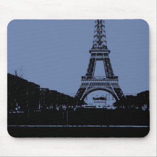 Torre Eiffel azul Mousepad