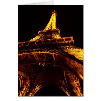 torre Eiffel Cartão De Nota