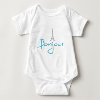 Torre Eiffel de Bonjour (olá!) Paris Body Para Bebê