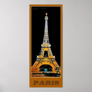 Torre Eiffel de Paris - 02 - poster de viagens Pôster