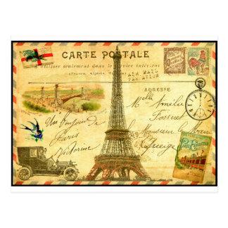 Torre Eiffel de Paris do cartão das viagens