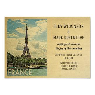 Torre Eiffel de Paris do convite do casamento de