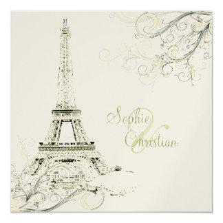 Torre Eiffel de PixDezines + redemoinhos Convite Personalizados
