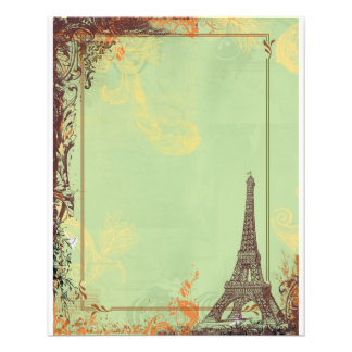 Torre Eiffel em anúncios verdes do insecto Panfleto Personalizados