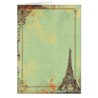 Torre Eiffel em cartões verdes