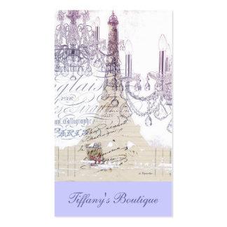 torre Eiffel feminino moderna de Paris do Cartão De Visita