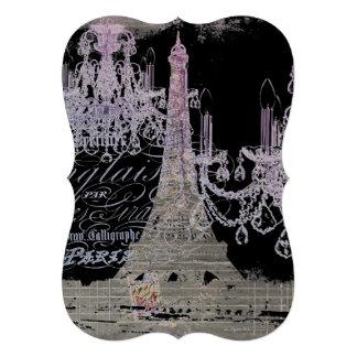 torre Eiffel feminino moderna de Paris do Convites Personalizado
