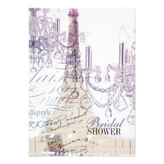 torre Eiffel feminino moderna de Paris do Convite