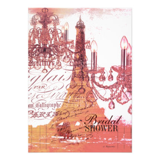 torre Eiffel feminino moderna de Paris do Convites