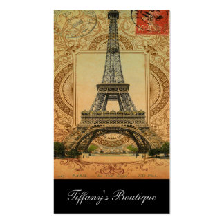 torre Eiffel feminino moderna de Paris do vintage Cartoes De Visita