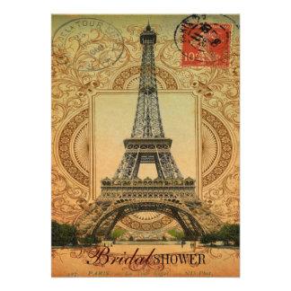 torre Eiffel feminino moderna de Paris do vintage Convites