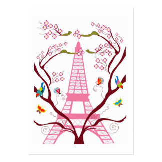Torre Eiffel no cartão de visita do primavera