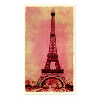 Torre Eiffel no estilo #3 do vintage do por do sol Cartoes De Visitas