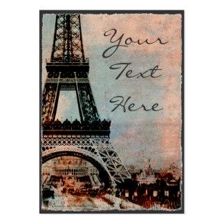 Torre Eiffel no estilo do vintage do nascer do sol Modelo Cartão De Visita