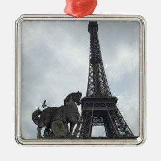 Torre Eiffel, ornamento do feriado da silhueta de