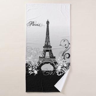 Torre Eiffel Paris (B/W) toalha de banho